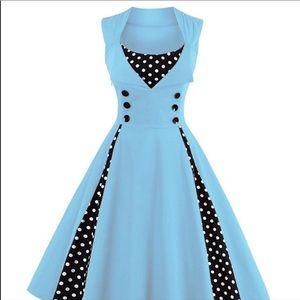 NWT Zaful Polka Dot Retro Dress Size Medium